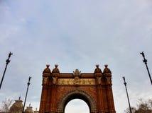 Arc de Triomf, Barcelone images stock