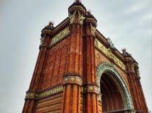 Arc de Triomf, Barcelone image stock