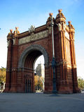 Arc de Triomf, Barcelone Photo libre de droits