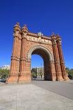 Arc de Triomf, Barcelone, Catalunya, Espagne Image stock