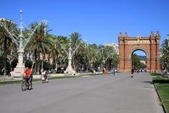 Arc de Triomf, Barcelone, Catalunya, Espagne Août 2012 Photo stock