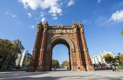 Arc de Triomf, Barcelone, Spain.  Stock Image