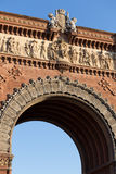 arc de triomf building barcelona spain Royalty Free Stock Photo
