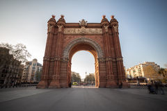 Arc de triomf building barcelona spain. The arc de triumf building barcelona spain Stock Photography