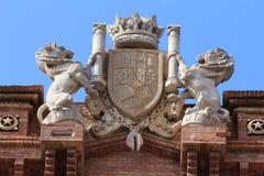 Arc de Triomf, Barcelona, Spain. The Arc de Triomf Catalan pronunciation: [ˈark də tɾiˈomf] or Arco de Triunfo in Spanish, is a triumphal arch in royalty free stock photos