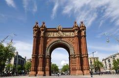 Arc de Triomf en Barcelona Foto de archivo libre de regalías
