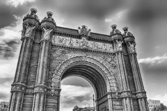 Arc de Triomf, iconic triumphal arc in Barcelona, Catalonia, Spa. Arc de Triomf, iconic triumphal arc and landmark in Barcelona, Catalonia, Spain Stock Image
