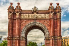 Arc de Triomf, iconic triumphal arc in Barcelona, Catalonia, Spa Royalty Free Stock Photography