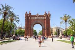 Arc de Triomf Parc στη Βαρκελώνη, Ισπανία Στοκ Φωτογραφία