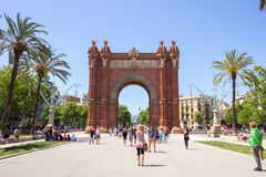 Arc de Triomf Parc in Barcelona, Spain Stock Photography