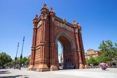 Arc de Triomf Parc de Λα Ciutadella Βαρκελώνη Στοκ Εικόνες