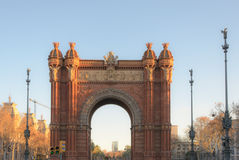 Arc de triomf spain. Arc De Triomf Barcelona, Spain, one of Europe's tourist attractions Royalty Free Stock Photography