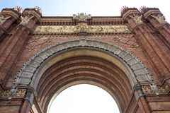 Arc de Triomf. Spain, Barcelona Royalty Free Stock Images
