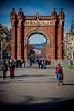 Arc de Triomf. The Arc de Triomf on a sunny day in Barcelona Stock Images