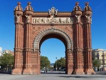 Arc de Triomf. Triumphal Arch in Barcelona, Catalonia, Spain Stock Images