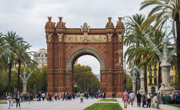 Arc de Triomf, Triumphal Arch. Barcelona, Spain Royalty Free Stock Photo