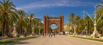 Arc de Triomf. (Triumphal Arch), Barcelona, Spain, Europe Royalty Free Stock Images