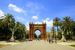 Arc de Triomf Royalty Free Stock Images