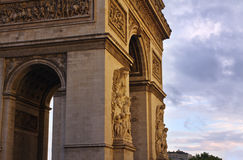 Arc de Triompe, Paris. The Arc de Triomphe in Paris, France Stock Photos