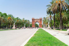 Arc de Triomph, Βαρκελώνη Στοκ εικόνα με δικαίωμα ελεύθερης χρήσης