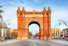 Arc de Triomph στη Βαρκελώνη, Καταλωνία Ισπανία Στοκ φωτογραφία με δικαίωμα ελεύθερης χρήσης