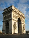 Arc de Triomph. Dramatic view of the Arc de Triomph Stock Photography