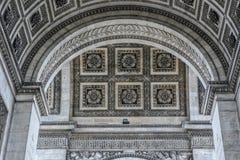Arc de Triomph. A close up view of the Arc from Arc de Triomphe Royalty Free Stock Photos
