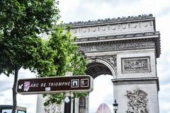 Arc de Triomph. The famous Arc de Triomphe in Paris France Stock Photos