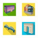 Arc de Triomphe à Paris, pont renforcé, bâtiment de café, Chambre dans le style scandinave Ensemble architectural de bâtiment Photos stock