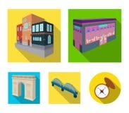 Arc de Triomphe à Paris, pont renforcé, bâtiment de café, Chambre dans le style scandinave Ensemble architectural de bâtiment illustration de vecteur