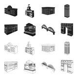 Arc de Triomphe à Paris, pont renforcé, bâtiment de café, Chambre dans le style scandinave Ensemble architectural et de bâtiment illustration de vecteur