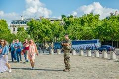 Arc de Triomphe ασφάλεια Στοκ εικόνα με δικαίωμα ελεύθερης χρήσης