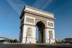 Arc de Triomphe - αψίδα του θριάμβου, Παρίσι, Γαλλία Στοκ Φωτογραφία
