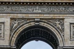 Arc de Triomphe, εικόνα φωτογραφιών μια όμορφη πανοραμική άποψη της μητροπολιτικής πόλης του Παρισιού Στοκ φωτογραφία με δικαίωμα ελεύθερης χρήσης