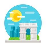 Arc de Triomphe επίπεδο σχέδιο Διανυσματική απεικόνιση