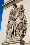 Arc de Triomphe - λεπτομέρεια γλυπτών Στοκ Εικόνες
