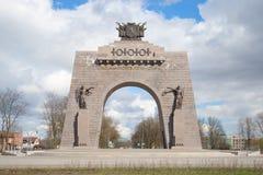 Arc de Triomphe, ημέρα Απριλίου Κόκκινο χωριό, Άγιος-Πετρούπολη Στοκ Εικόνες