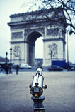 Arc de Triomphe και τηλεσκόπιο -- Αψίδα του θριάμβου, Παρίσι, Γαλλία Στοκ Εικόνα