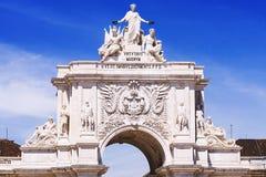 Arc de Triomphe, Λισσαβώνα Πορτογαλία Στοκ Εικόνες