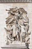 Arc de Triomphe Παρίσι λεπτομέρεια Στοκ Εικόνες