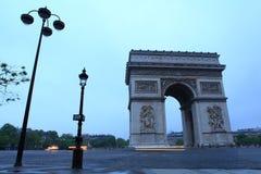 Arc de Triomphe Παρίσι πόλη Στοκ Φωτογραφίες
