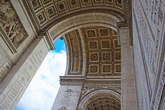 Arc de Triomphe, Παρίσι Στοκ φωτογραφία με δικαίωμα ελεύθερης χρήσης