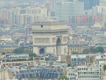 Arc de Triomphe Παρίσι Στοκ Φωτογραφίες