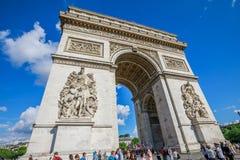 Arc de Triomphe Παρίσι Στοκ Εικόνες