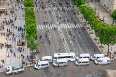 Arc de Triomphe σημείο ελέγχου Στοκ Φωτογραφία
