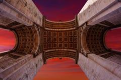 Arc de Triomphe στην αψίδα του Παρισιού του θριάμβου Στοκ Φωτογραφία