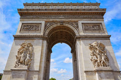 Arc de Triomphe στην αψίδα του Παρισιού του θριάμβου Στοκ Εικόνα