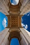 Arc de Triomphe στην αψίδα του Παρισιού του θριάμβου Στοκ εικόνες με δικαίωμα ελεύθερης χρήσης
