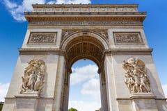 Arc de Triomphe στην αψίδα του Παρισιού του θριάμβου Στοκ εικόνα με δικαίωμα ελεύθερης χρήσης