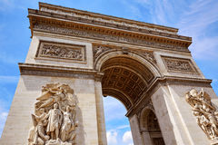 Arc de Triomphe στην αψίδα του Παρισιού του θριάμβου Στοκ Φωτογραφίες